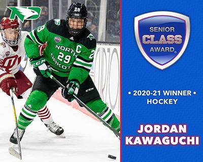 North Dakota's Jordan Kawaguchi Wins 2020-21 Senior CLASS Award® for Men's Hockey