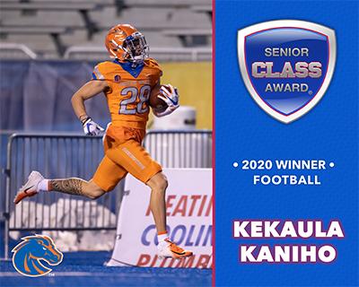 Boise State's Kekaula Kaniho Wins 2020 Senior CLASS Award® for FBS Football