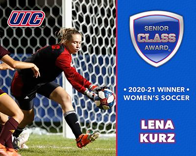 UIC's Lena Kurz Wins 2020-21 Senior CLASS Award® for Women's Soccer