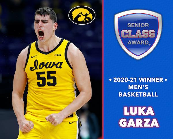Iowa's Luka Garza Wins 2020-21 Senior CLASS Award® for Men's Basketball