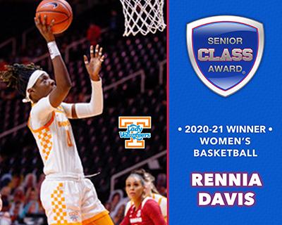 Tennessee's Rennia Davis Wins 2020-21 Senior CLASS Award® for Women's Basketball