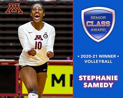 Minnesota's Stephanie Samedy Wins 2020-21 Senior CLASS Award® for Women's Volleyball