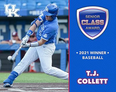 Kentucky's T.J. Collett Wins 2021 Senior CLASS Award® for Baseball