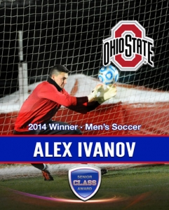 Alex Ivanov of The Ohio State University wins 2014 Senior CLASS Award® for Men's Soccer