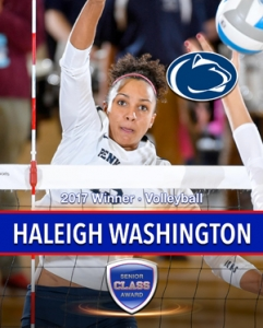 Penn State's Haleigh Washington wins the 2017 Senior CLASS Award® for Women's Volleyball