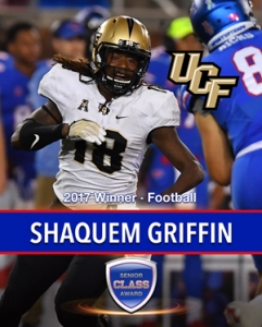 UCF's Shaquem Griffin wins the 2017 Senior CLASS Award® Winner for FBS Football.