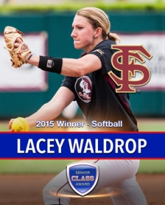 Florida State's Lacey Waldrop wins the 2015 Senior CLASS Award® in Softball