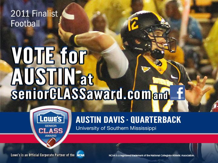 Please Vote For Austin Davis For Lowes Senior Class Award
